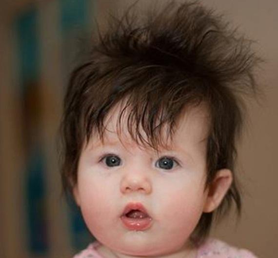 Cute Babies Having A Bad Hair Day