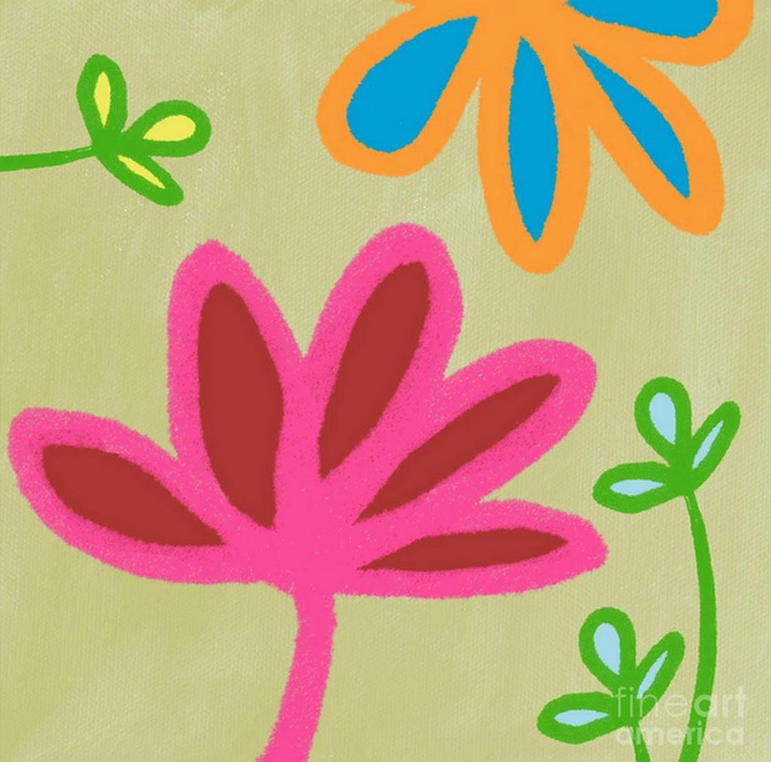 flores-diseños-fáciles-de-cuadros