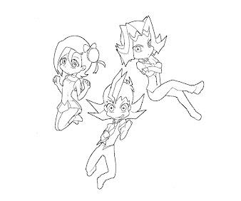#4 Yuma Tsukumo Coloring Page