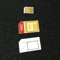 the cut out of the card in regular SIM shape