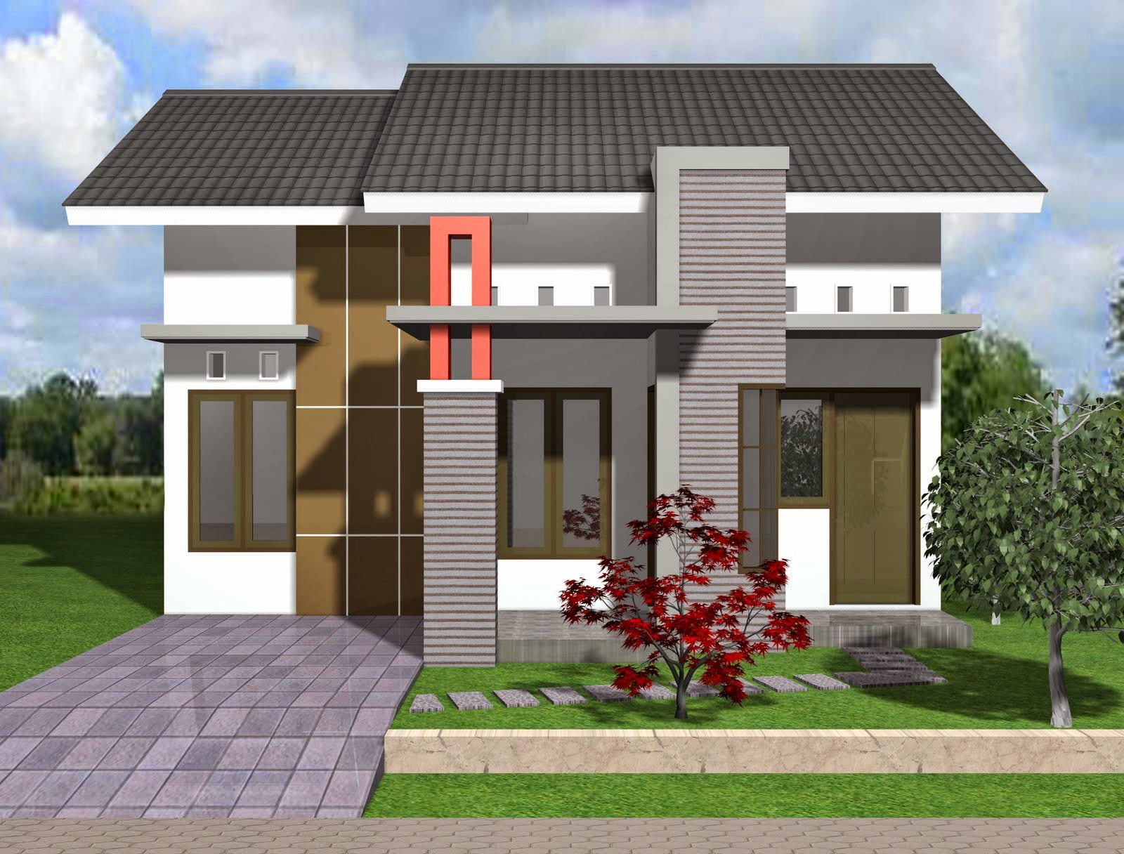 Gambar desain rumah minimalis tipe 21 modern