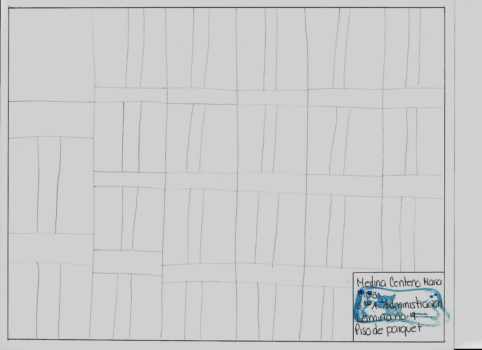 Dibujo tecnico lamina no 4 piso de parquet - Laminas de parquet ...