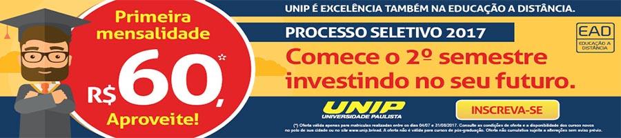 Processo seletivo UNIP-Acrelândia