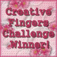 I won over on Creative Fingers Challenge Blogspot