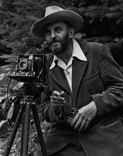"""Ansel Adams and camera"" by photo by J. Malcolm Greany"