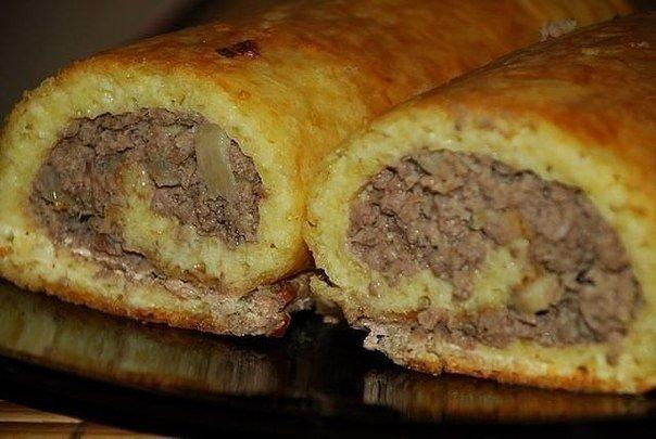 Сырно-мясной закусочный рулет