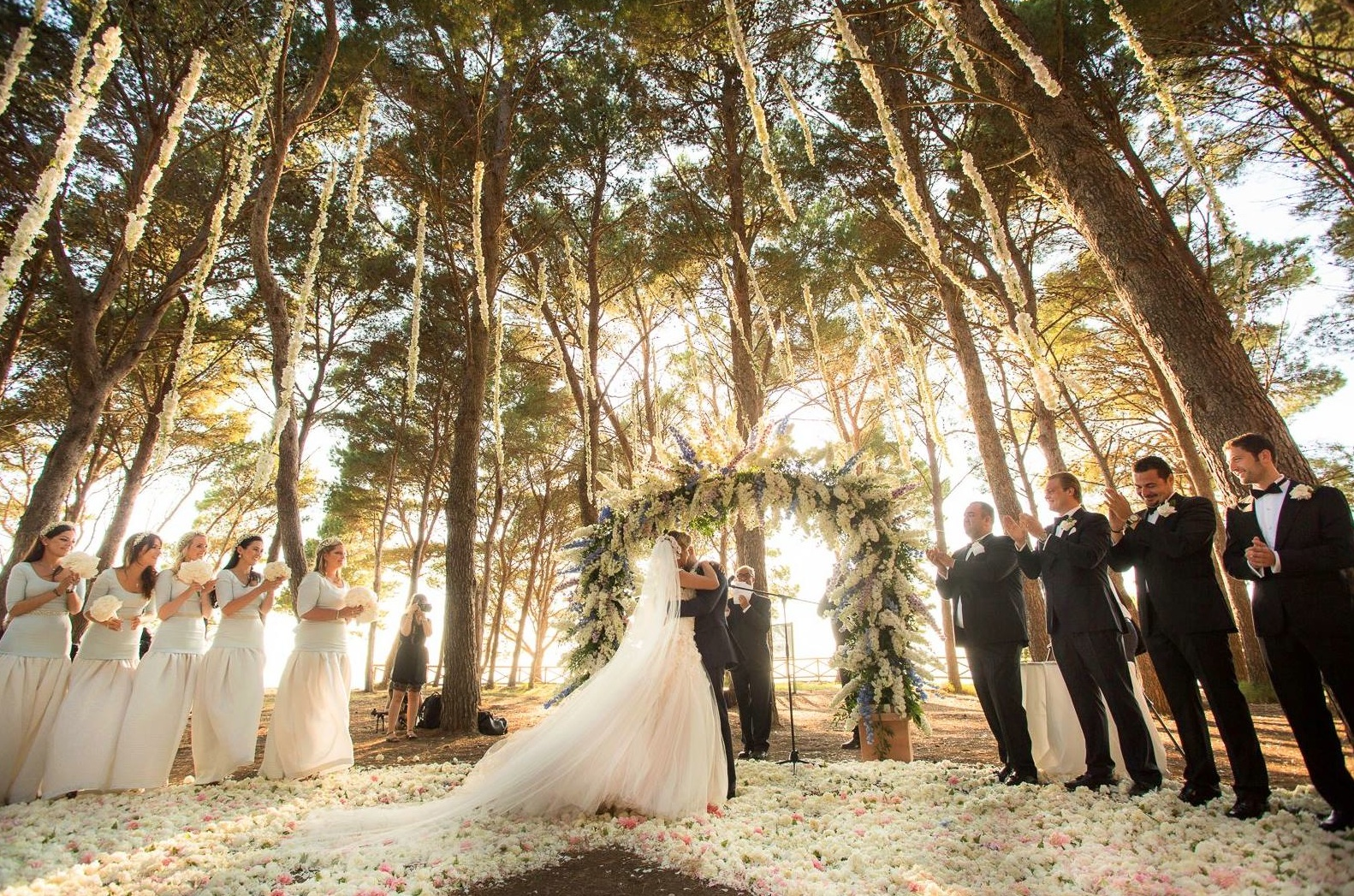 Capri wedding ceremony secret forrest diana sorensen sugokuii-events.com