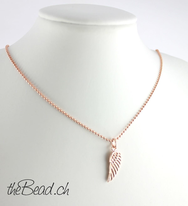 Hübsche Trend Halskette in Rosegold beim modeschmuck onlineshop