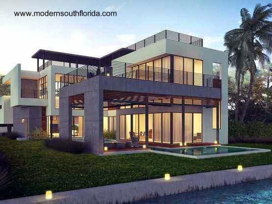 Imagen de renderizado residencia contemporánea en Miami 2015