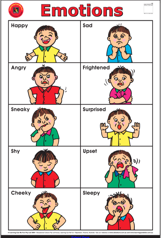 Clever image inside emotion flashcards printable