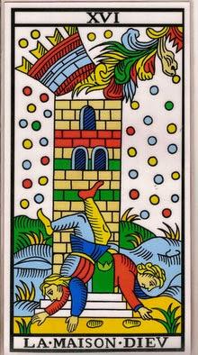 La carta de la casa de Dios en el tarot