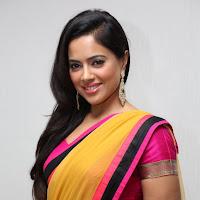 Sameera reddy in saree at platinum launch