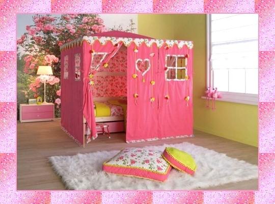 Dormitorio m gico original y bonito para ni as ternura - Casitas plastico infantiles baratas ...
