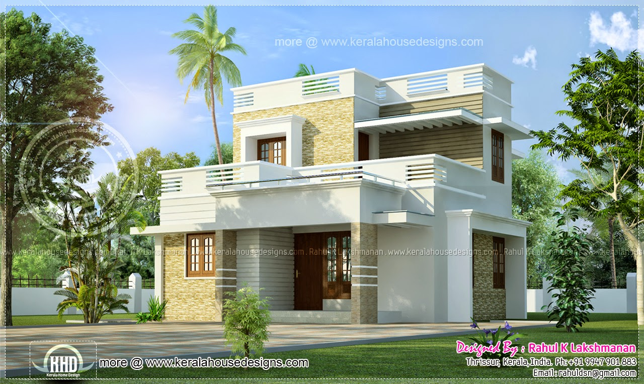 33 beautiful 2 storey house photos for Minimalist house kerala