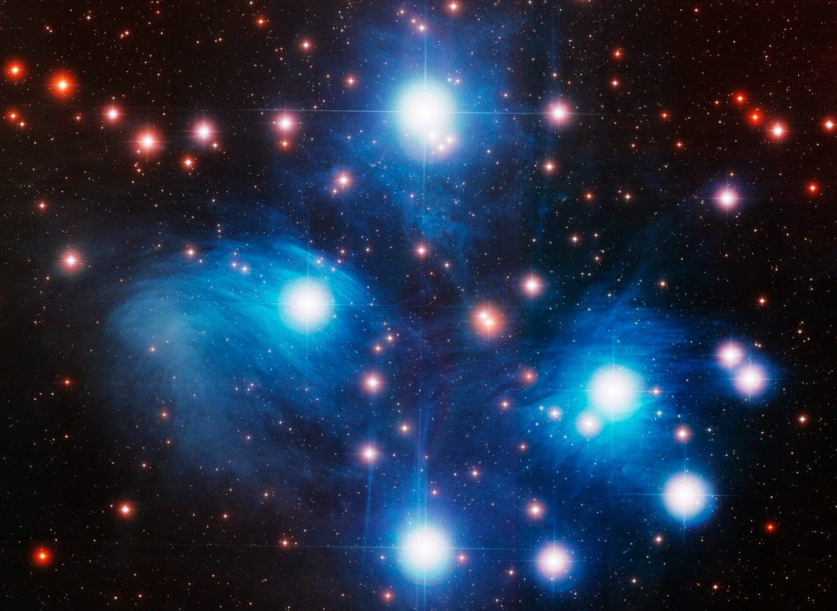 Optical image of the Pleiades. CREDIT: NOAO/AURA/NSF.