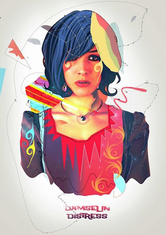 Create a Colorful Retro Poster