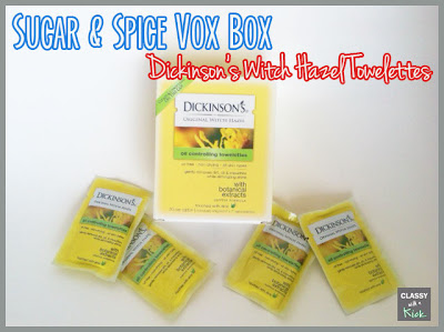 Sugar & Spice Vox Box from Influenster - Dickinson's Towelettes