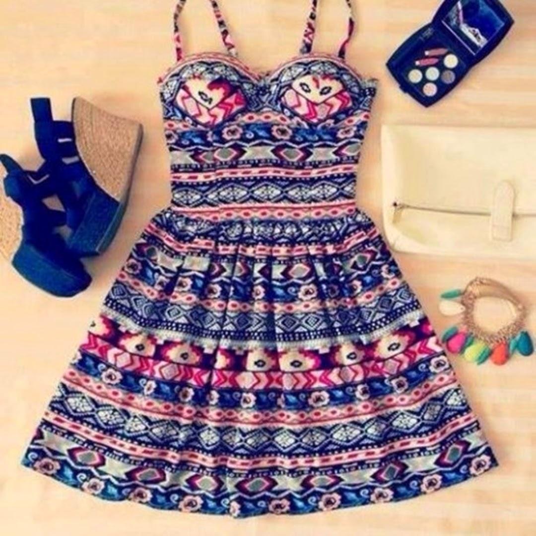 vestidos estampanos tumblr