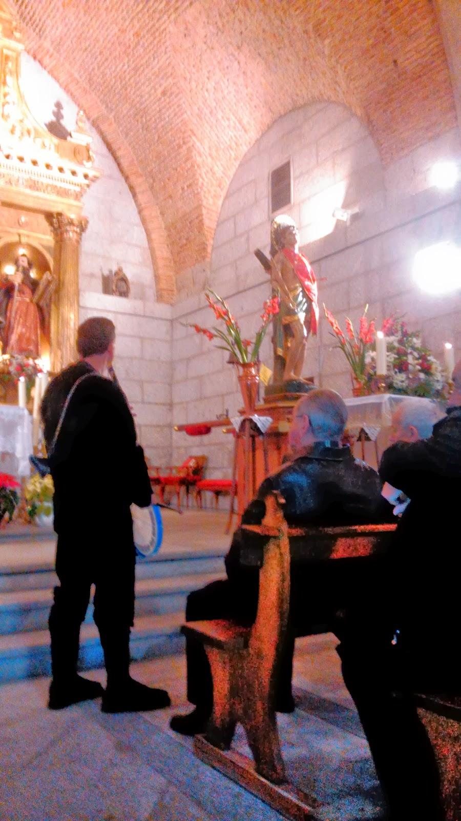 Celebración eucaristica en la localida de Puerto de Béjar San Sebastian