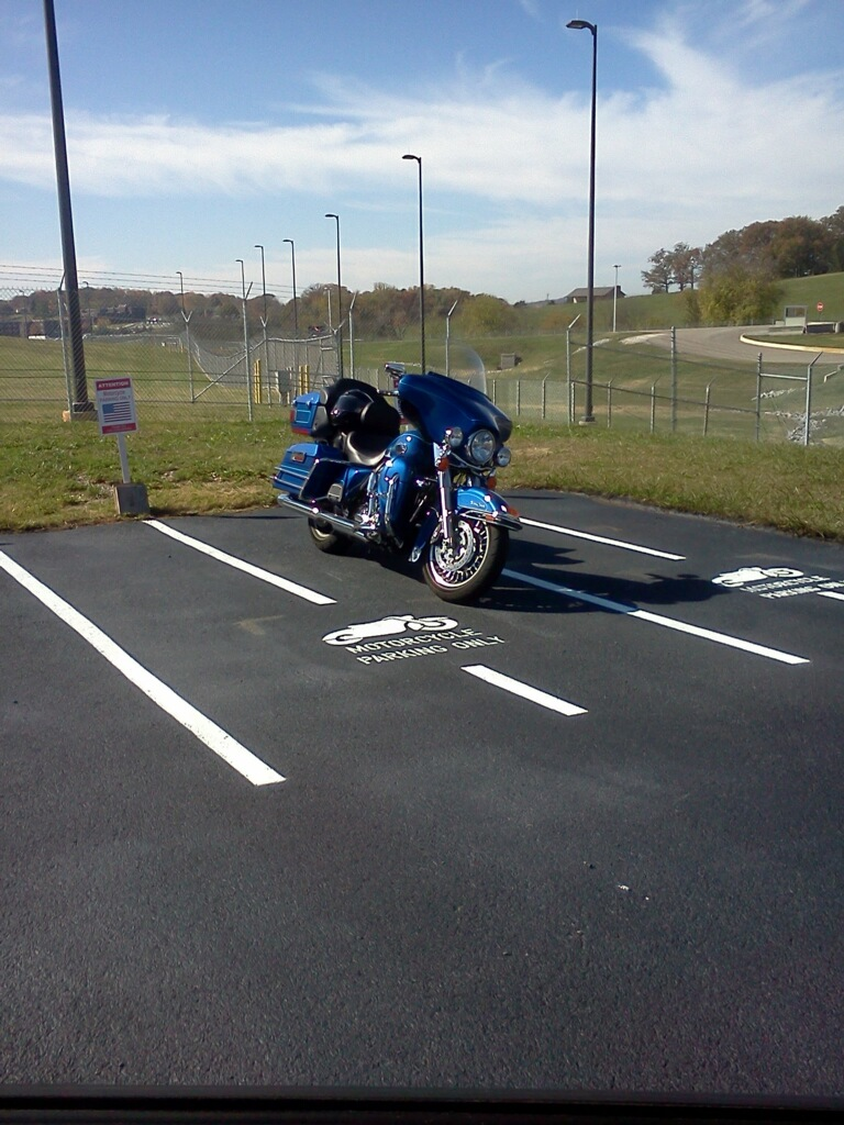 Motorcycle Parking Space : Custom motorcycle parking stencil by aaa stripe pro