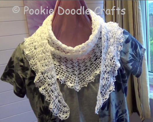 Pookie Doodle Crafts: Summer Sprigs Lace Scarf Crochet ...