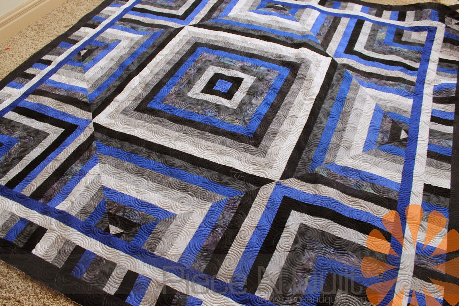 Piece N Quilt A Masculine Quilt With Edge To Edge Machine