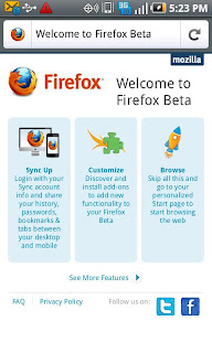 Firefox 7.0 beta Apk Fast Browser For Android OS