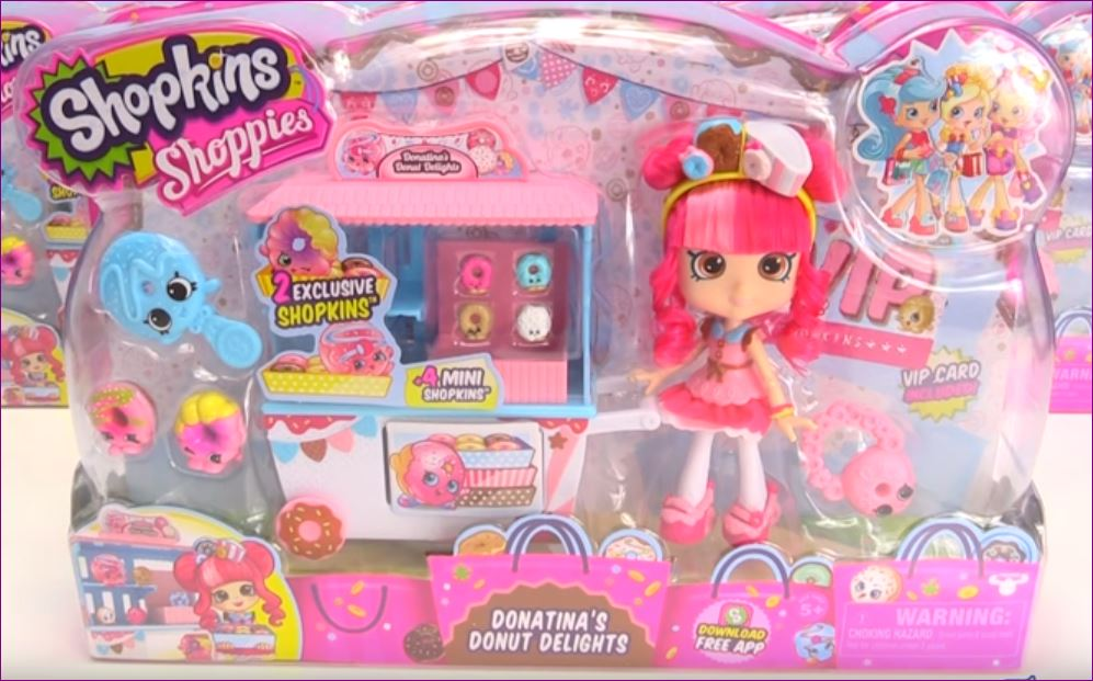 Shopkins Donatinas Donut Delights Shoppie Doll Playset With 4 Mini Donuts