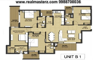 real masterz, real estate, flat, luxury apartment, 3bhk, sushma chandigarh grande, ambala road, zirakpur