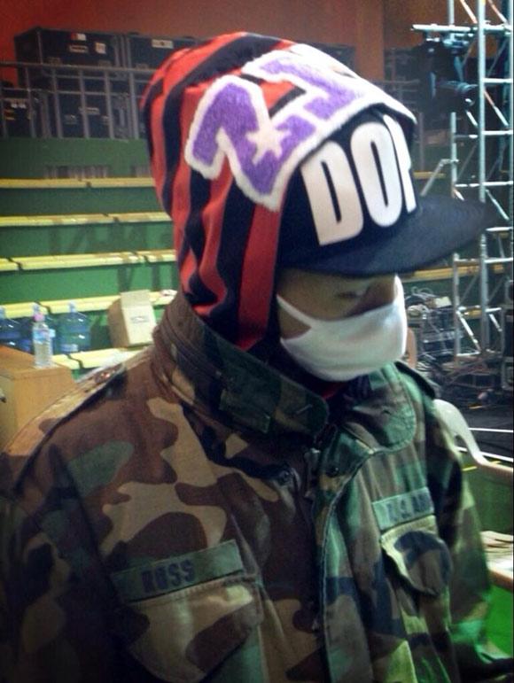 """G-Dragon trang bị """"kín mít"""" trong buổi tập luyện"""