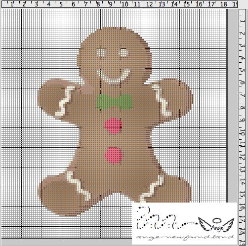 Ange 39 s blog grille gratuite gingerbread - Blog broderie point de croix grilles gratuites ...