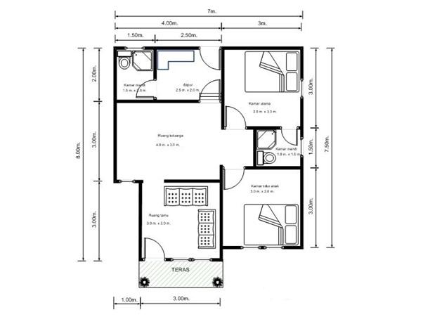 denah rumah sederhana yang modern dan terbaru 2013 info