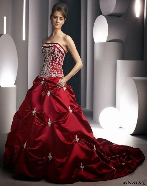 modelo de vestido longo vermelho - dicas e fotos