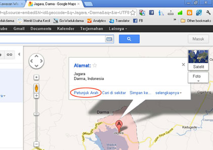 Gambar. 1 Google Maps Jagara, Darma-1