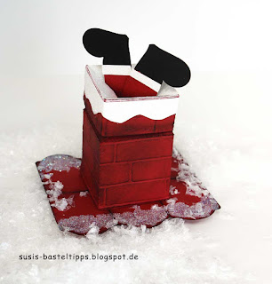 nikolaus im schornstein von stampin up mit magicbox und ziegelstein prägung