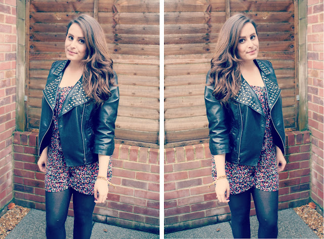 Miss-selfridge-studded-jacket-republic-playsuit-blogger-outfit-post