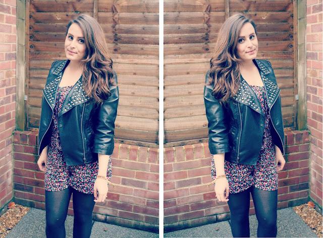 Miss-selfridge-studded-jacket-republic-playsuit-blogger-outfit-post