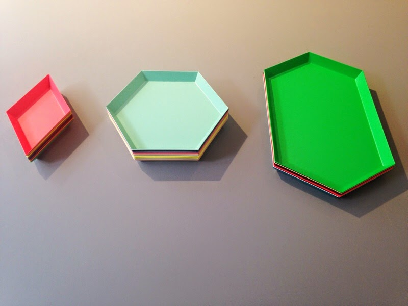 beautiful design trays from Hay DK