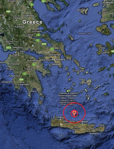 crete, greece earthquake 2013 March 25