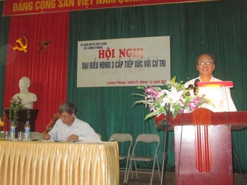 Đại biểu HĐND 3 cấp tiếp xúc cử tri tại xã Lương Phong &Đông Lỗ