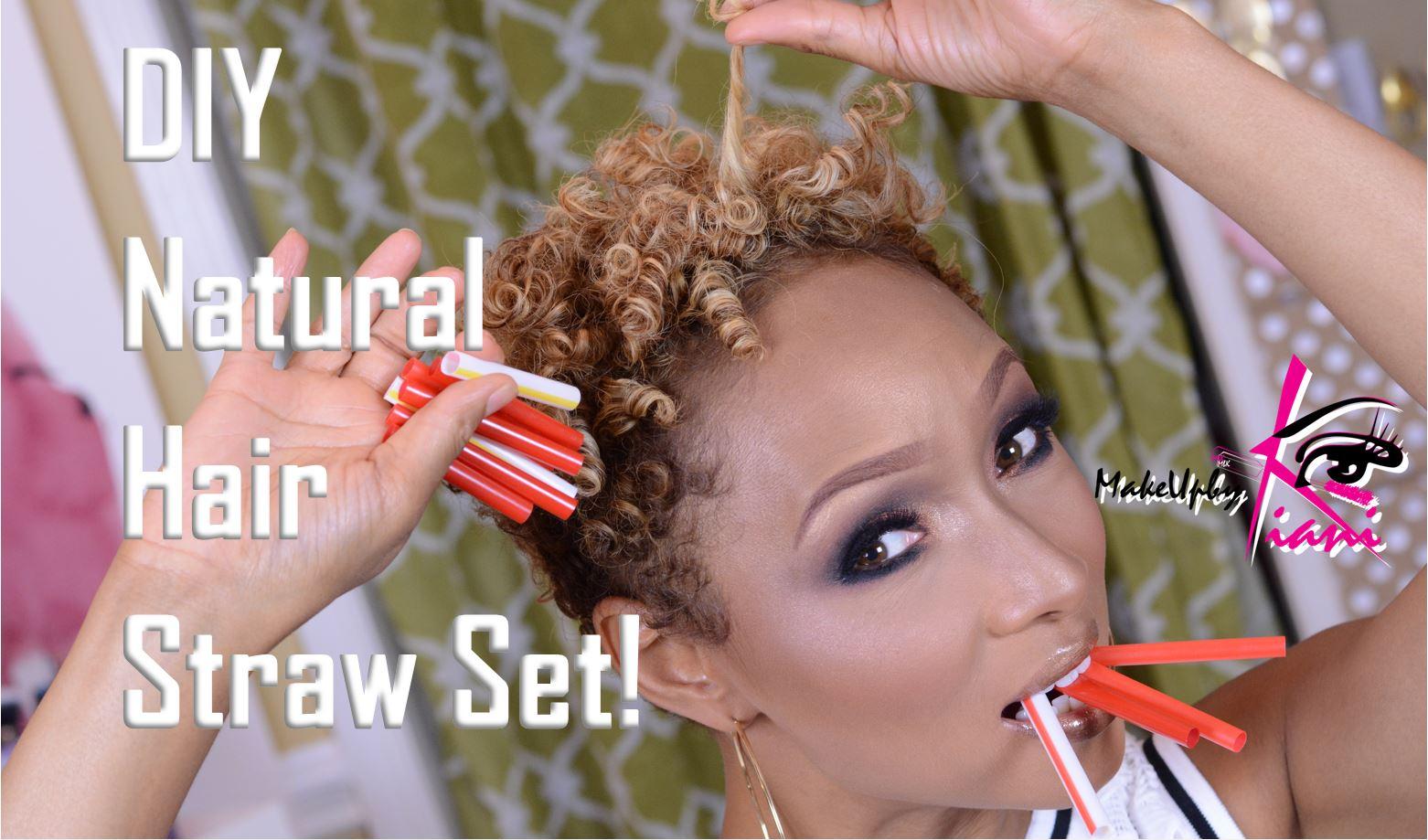 Makeupbykiani Diy Natural Hair Straw Set