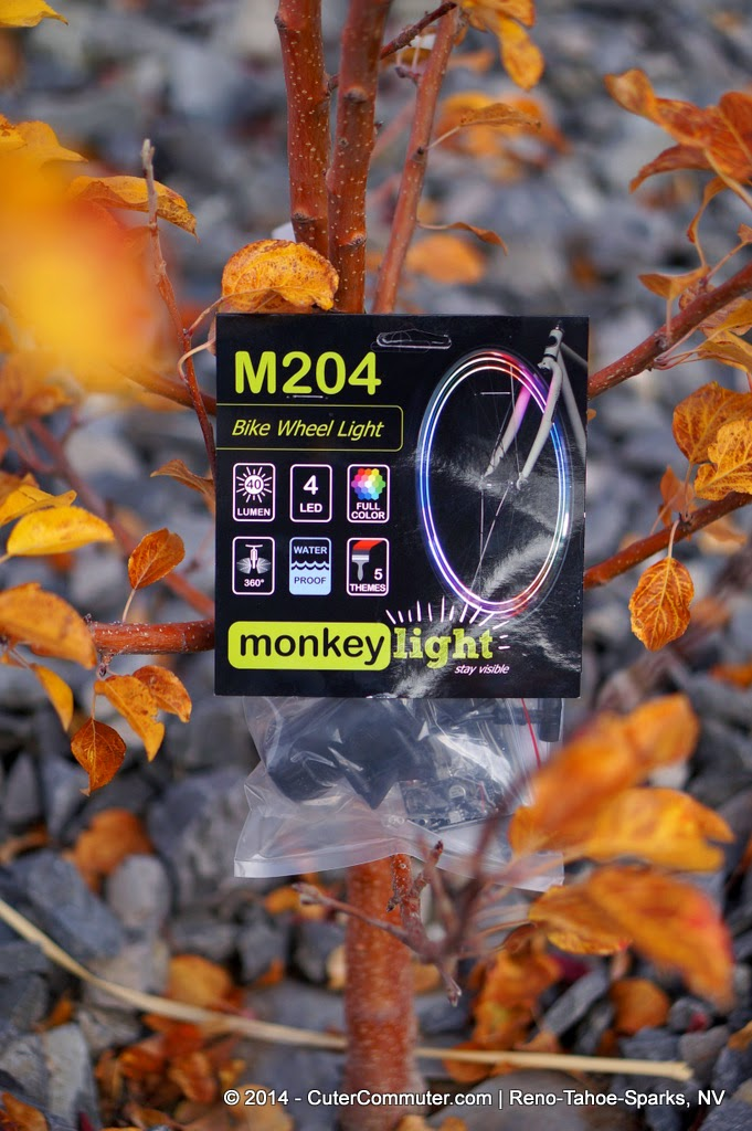 MonkeyLectric Monkey Light M204 Bike Wheel Light display