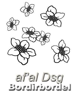 Contoh Gambar Motif Bunga Kecil Untuk Bordiran