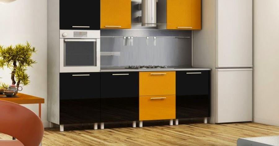 10 small kitchen ideas designs furniture and solutions - Black and yellow kitchen ideas ...