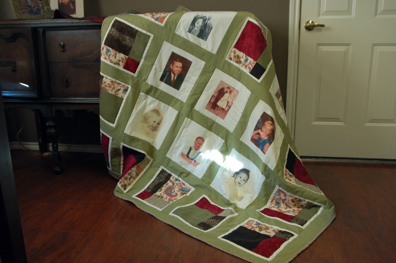 Photo day for the quilt was Thursday & it ended up insanely windy out ...
