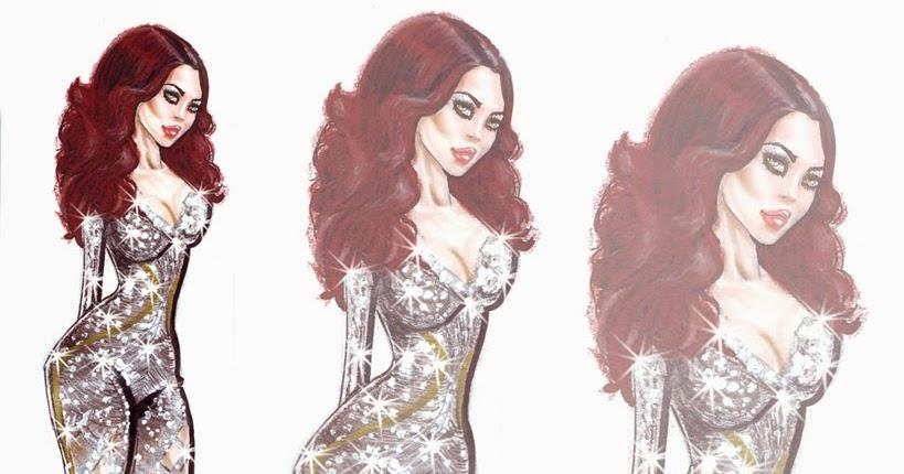 Anna Fashion Illustrator: Haifa Wehbe Wearing Charbel Zoe