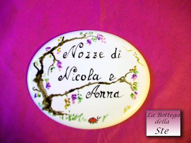 Placchetta di porcellana per album di matrimonio personalizzato