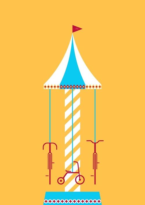 11-Joy Ride-Thomas-Yang-100copies-Emoji-Bicycle-Themed-Drawings-www-designstack-co
