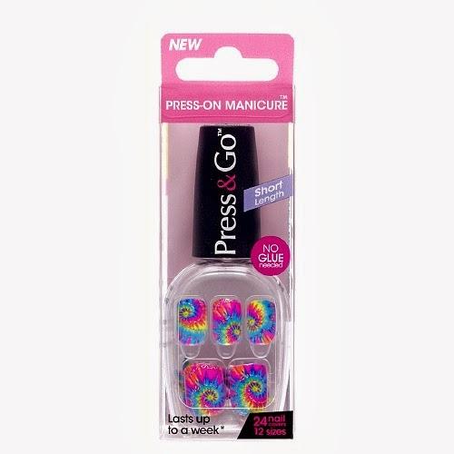 Impress Press On Manicure Vamp It Up Tie Dye Nails Nail Polish Fake Artificial