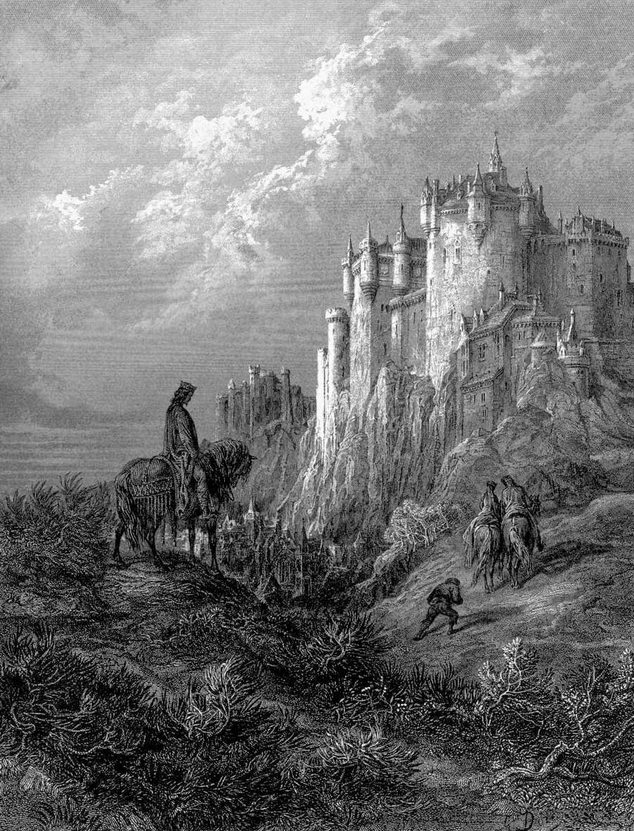 Figure 324: Gustave Dor�'s Art For Alfred Lord Tennyson's Idylls Of The  King (1868)